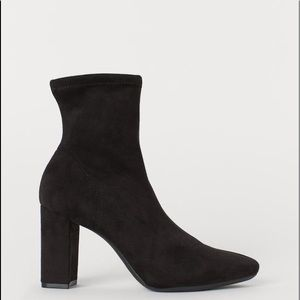 HM suede ankle sock boots